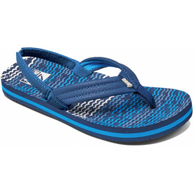 Reef Little Ahi Sandals Kids, blue horizon waves